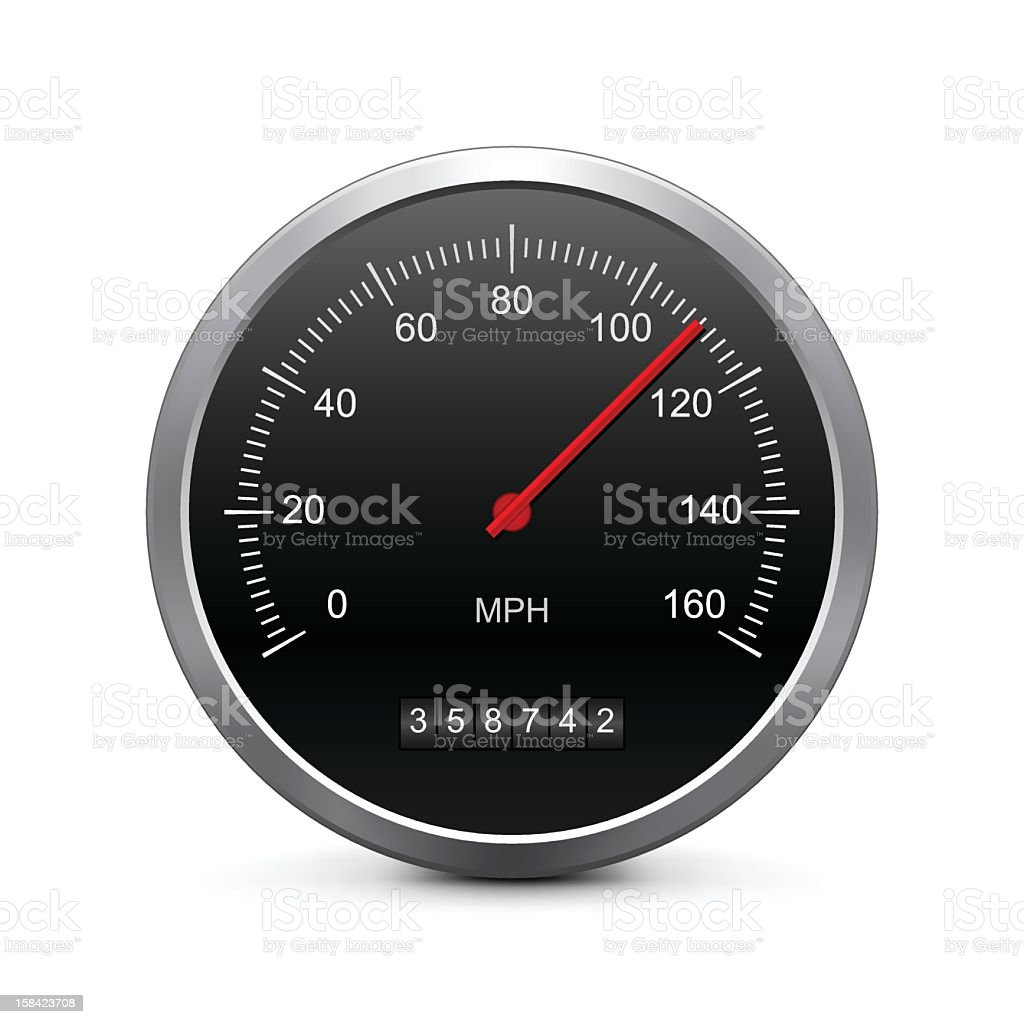 Speedometer gauge on a white background vector art illustration
