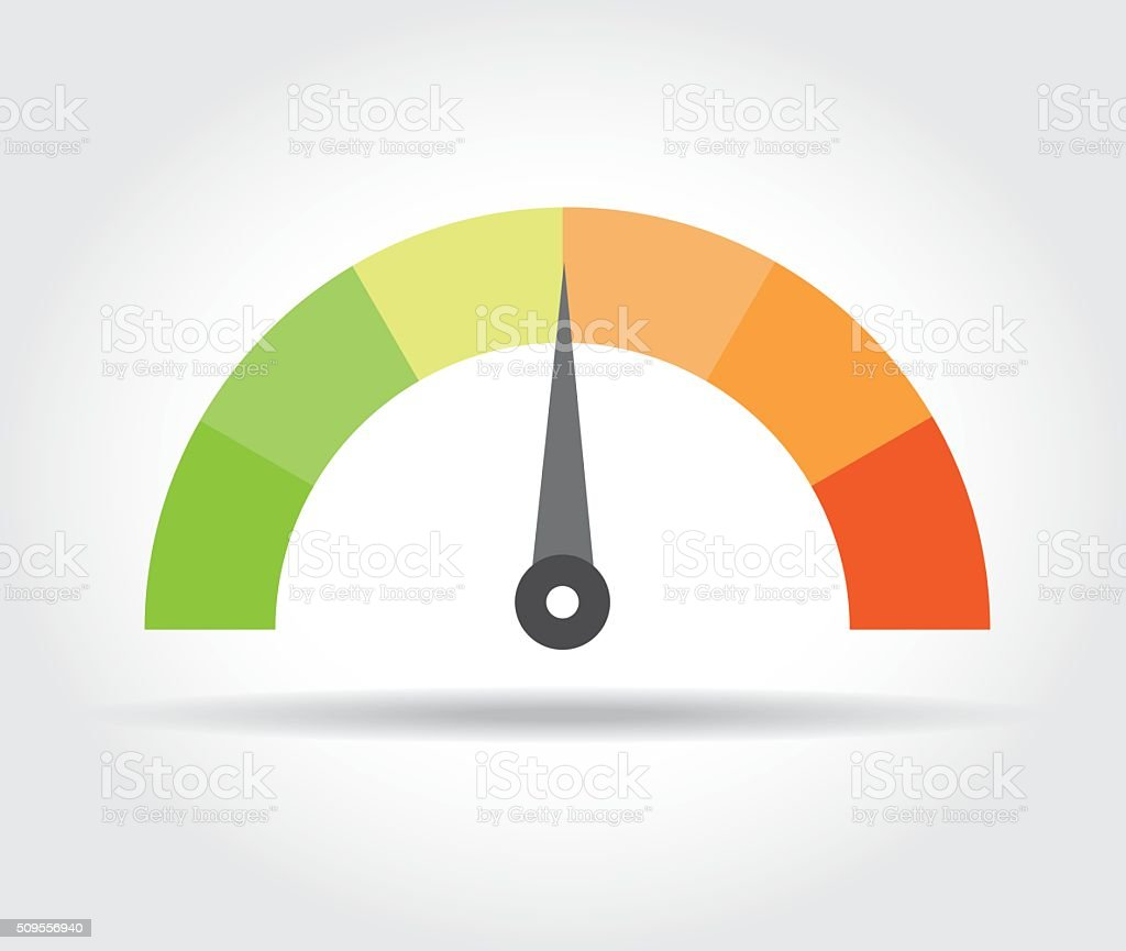 Speedometer icon. Colorful Info-graphic vector art illustration