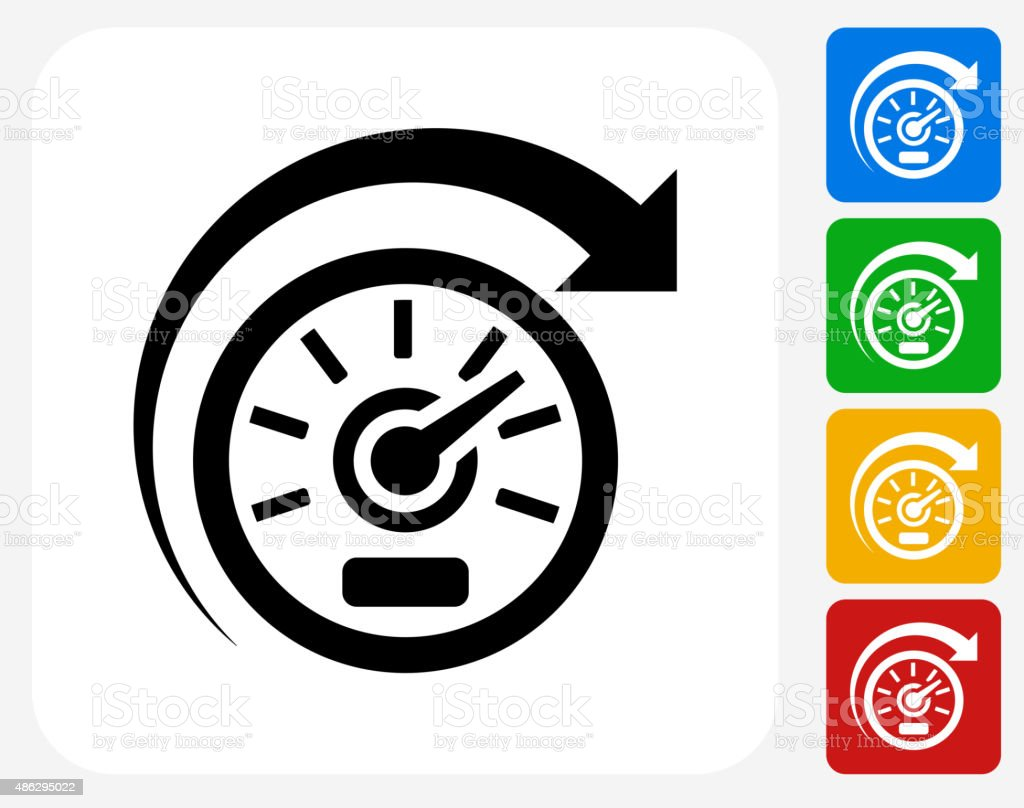 Speedometer Icon Flat Graphic Design Stock Illustration ...