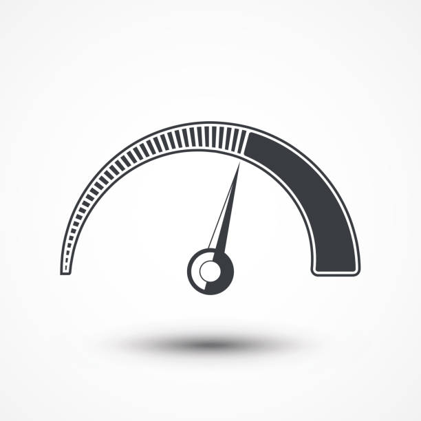 Speedometer icon. Gauge icon. Speed control., JPEG, Picture, Image, Logo, Sign, Design, Flat, App, UI, Web, Art, vector art illustration