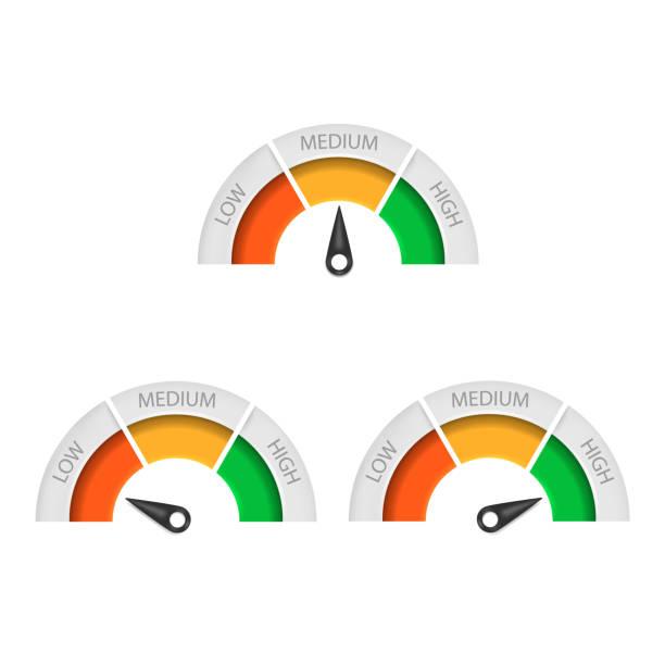 Speedometer icon isolated on white background. Vector illustration. Speedometer icon isolated on white background. Vector illustration. Eps 10. low stock illustrations