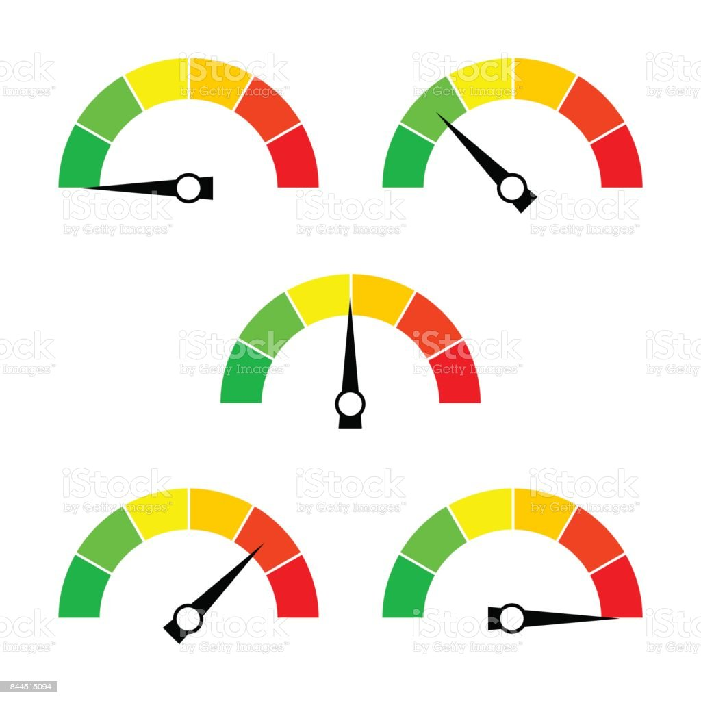 Speedometer icon or sign with arrow. Collection of colorful Infographic gauge element. royalty-free speedometer icon or sign with arrow collection of colorful infographic gauge element stock illustration - download image now