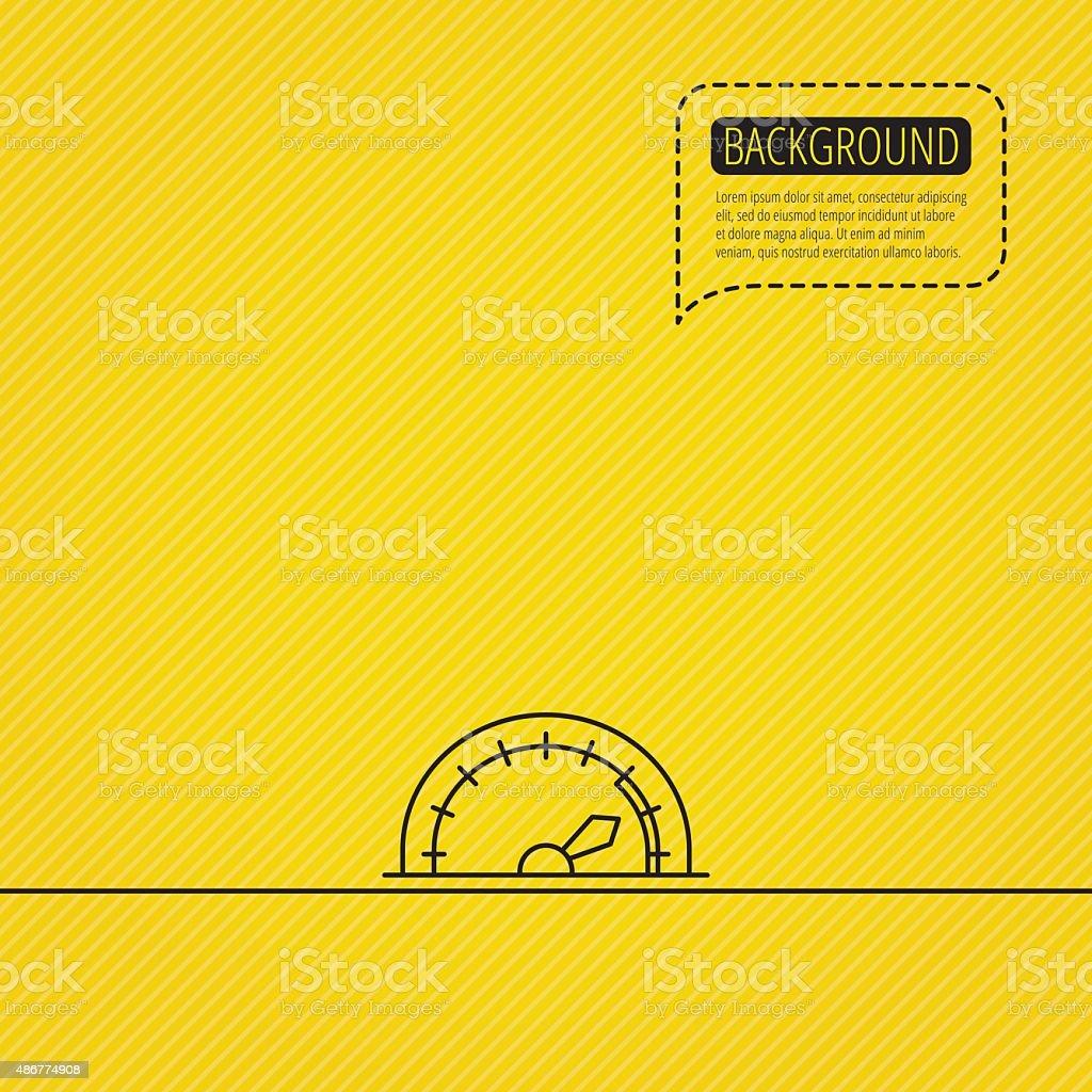 Speedometer icon. Speed tachometer with arrow. vector art illustration