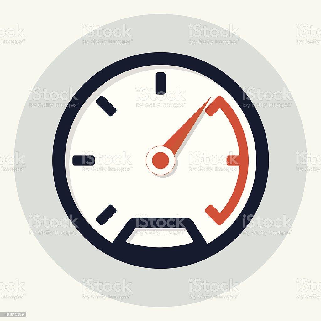 Speedometer icon Speedometer icon Arrow - Bow and Arrow stock vector