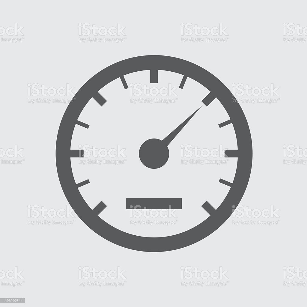 speedometer icon vector art illustration