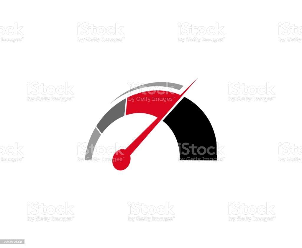 Icône de compteur de vitesse icône de compteur de vitesse vecteurs libres de droits et plus d'images vectorielles de abstrait libre de droits