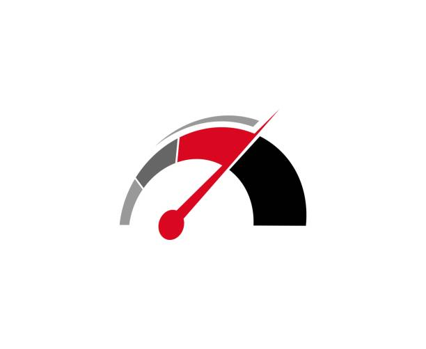 Speedometer icon This illustration/vector you can use for any purpose related to your business. speedometer stock illustrations