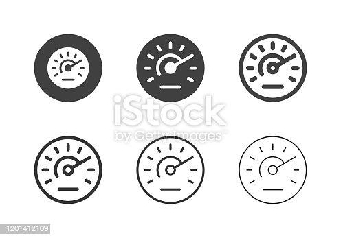 Speedometer Icons Multi Series Vector EPS File.