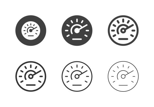 Speedometer Icons - Multi Series Speedometer Icons Multi Series Vector EPS File. test drive stock illustrations