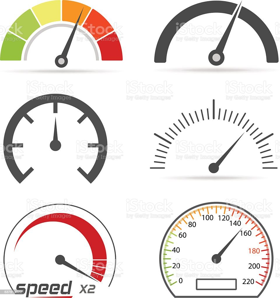 speedometer clip art, vector images & illustrations - istock