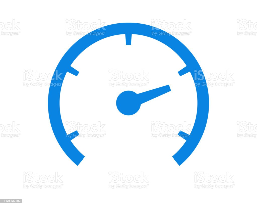 Speedometer Odometer Isolated Icon On White Background Auto