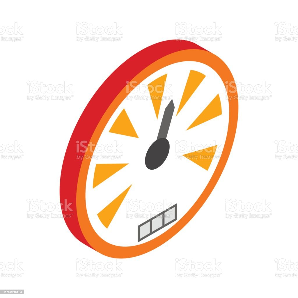 Speedometer or gauge icon, isometric 3d style royalty-free speedometer or gauge icon isometric 3d style stock vector art & more images of arrow symbol