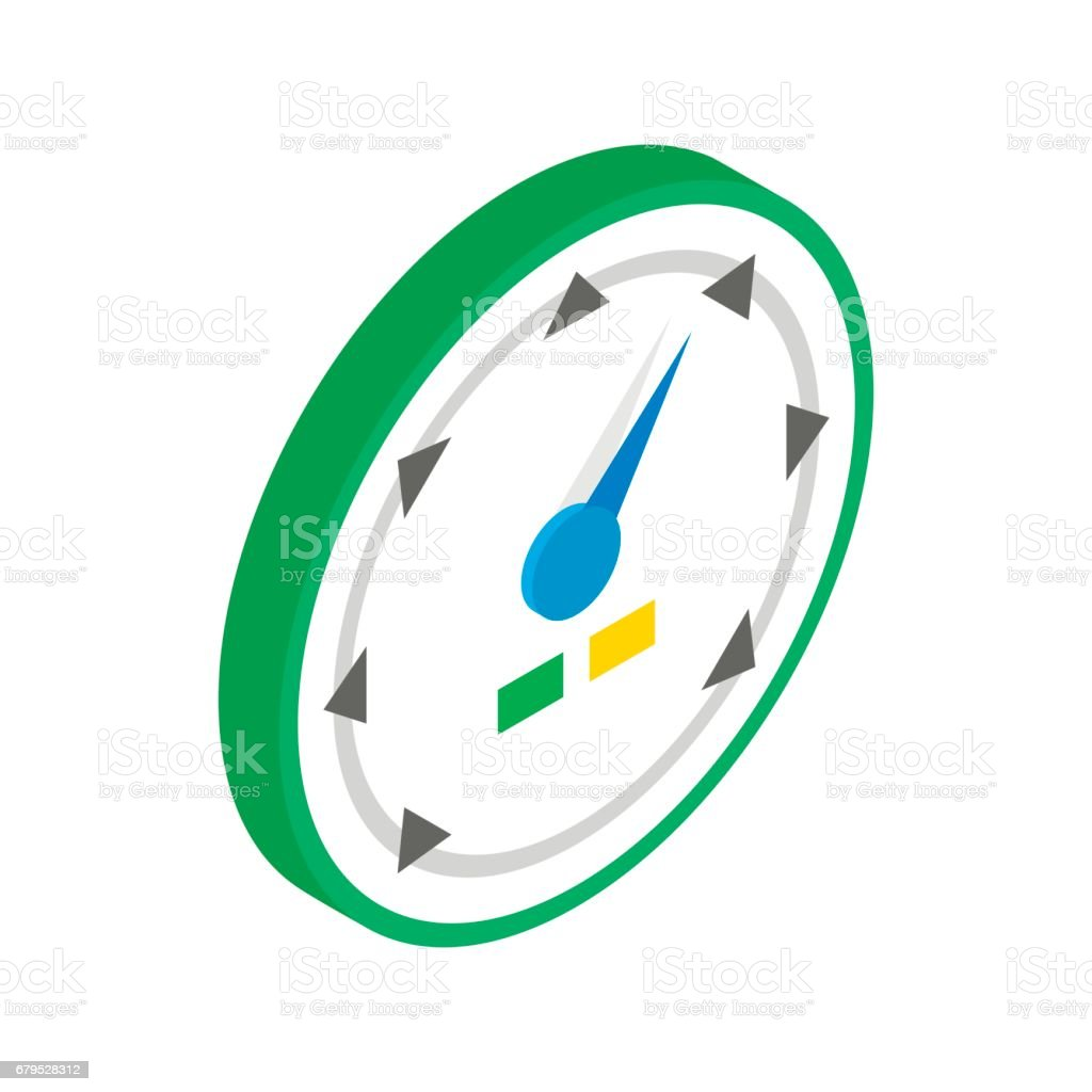Speedometer or gauge icon, isometric 3d style royalty-free speedometer or gauge icon isometric 3d style stock vector art & more images of car