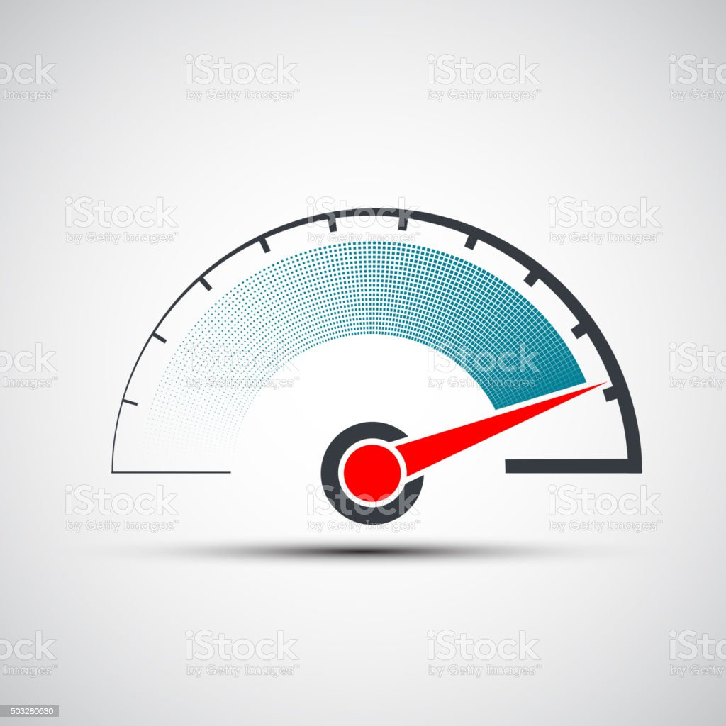 speedometer. Stock illustration. vector art illustration