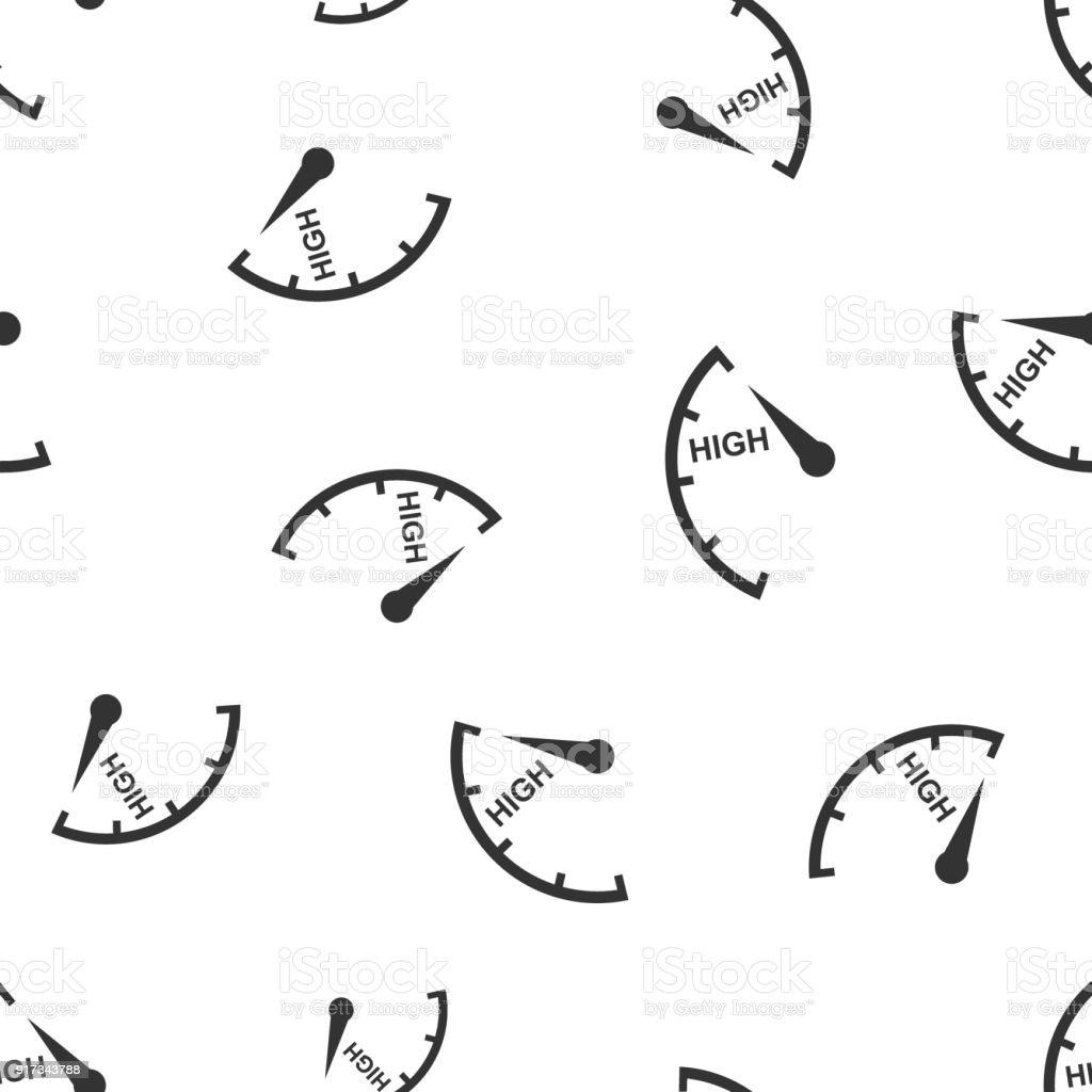 Tacho Drehzahlmesser Kraftstoff Hohe Pegelanzeige Musterdesign Hintergrund Symbol Businessflache Vektorillustration Hohen Niveau Zeichen Symbol Muster Stock Vektor Art Und Mehr Bilder Von Anzeigeinstrument Istock