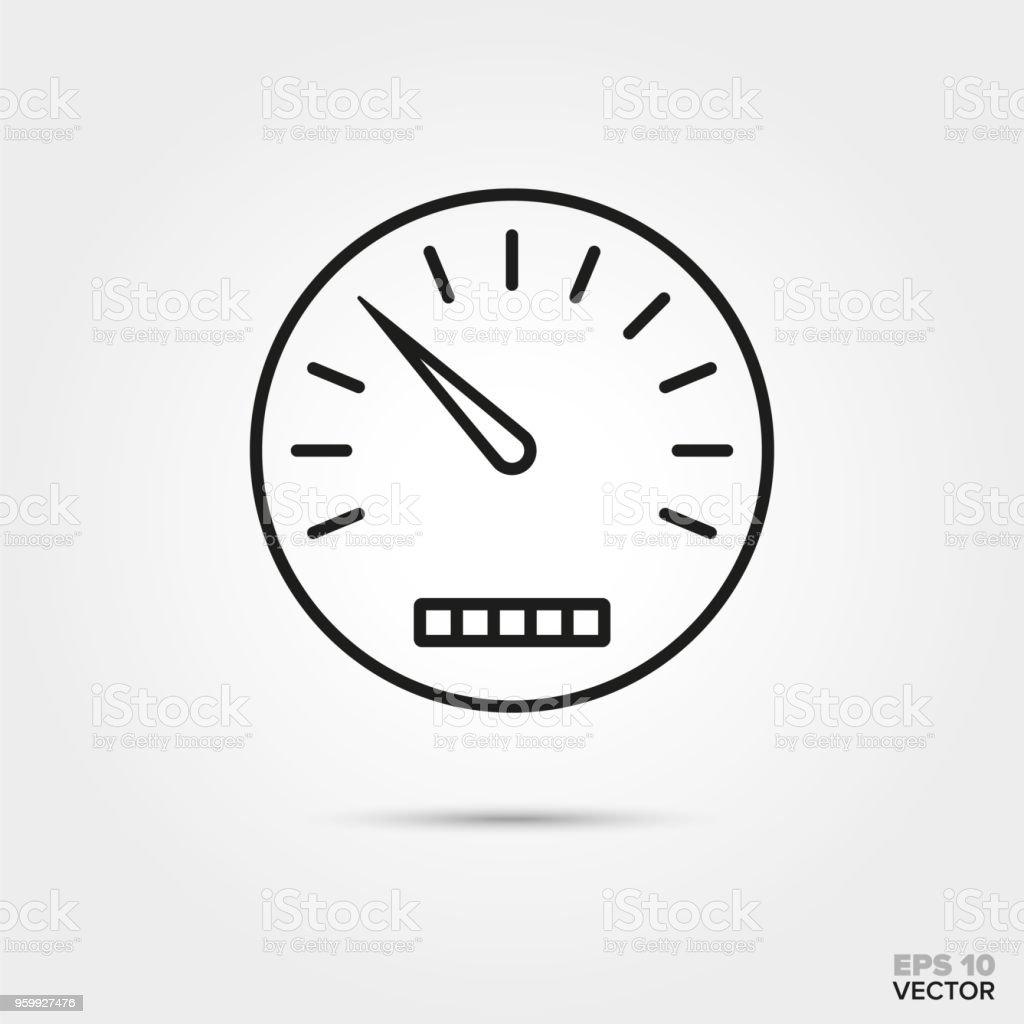 speedometer vector icon vector art illustration