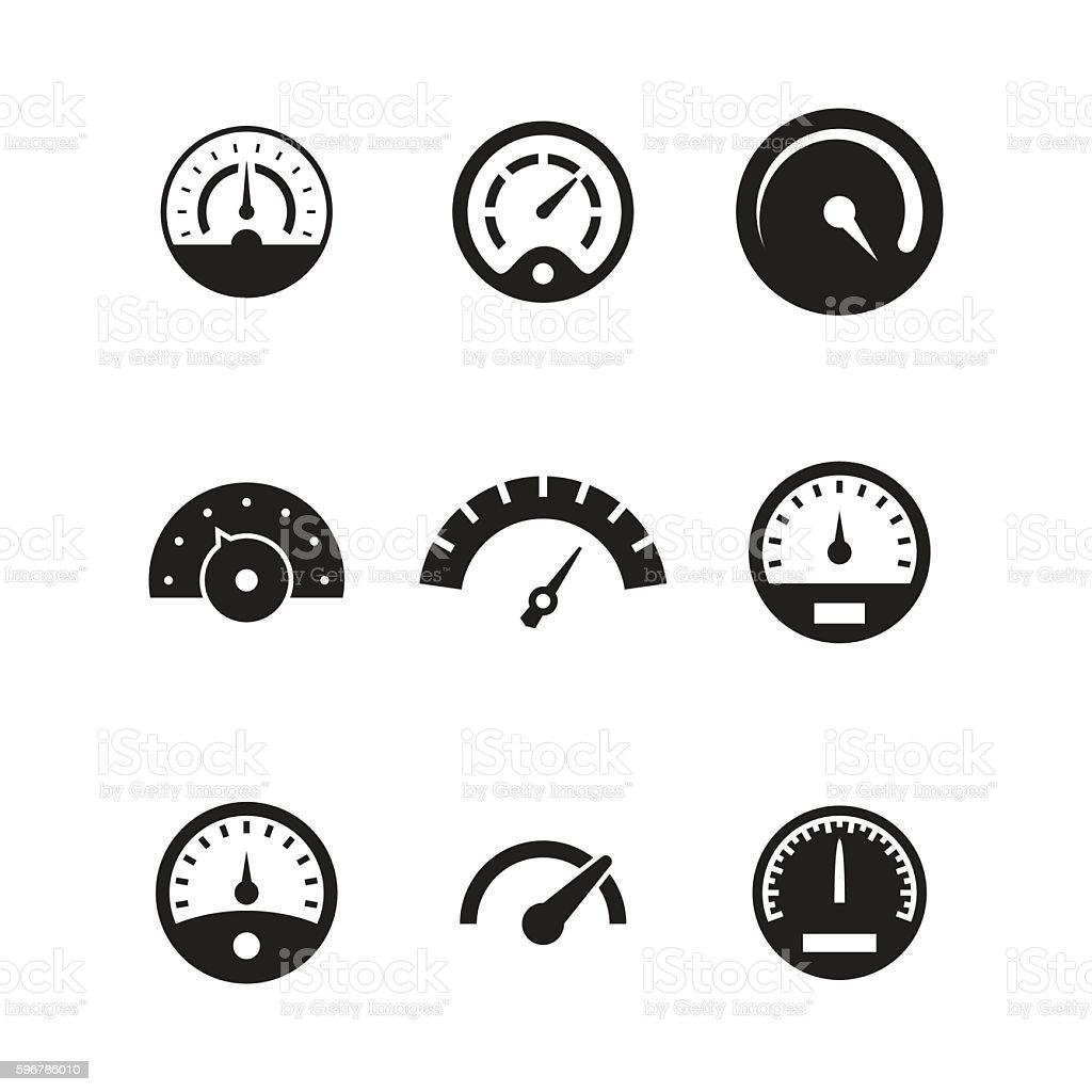 Speedometer vector icons vector art illustration