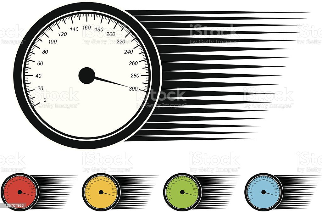 speedometer royalty-free speedometer stock vector art & more images of black color