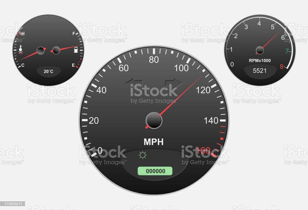 Speedometer royalty-free speedometer stock vector art & more images of back lit