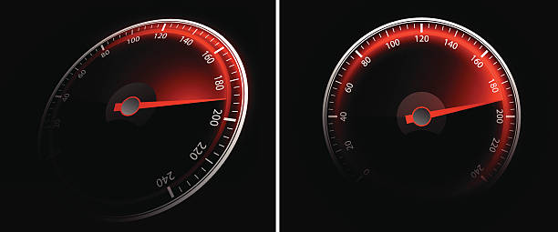 Speedometer Illustration contains a transparency blends/gradients. Additional .aiCS6 file included. EPS 10 auto racing stock illustrations