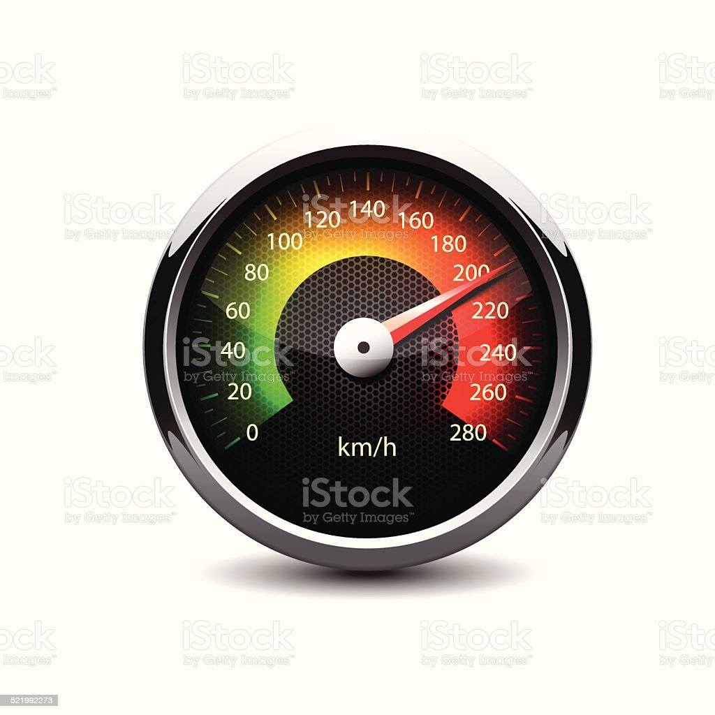 speedometer vector art illustration