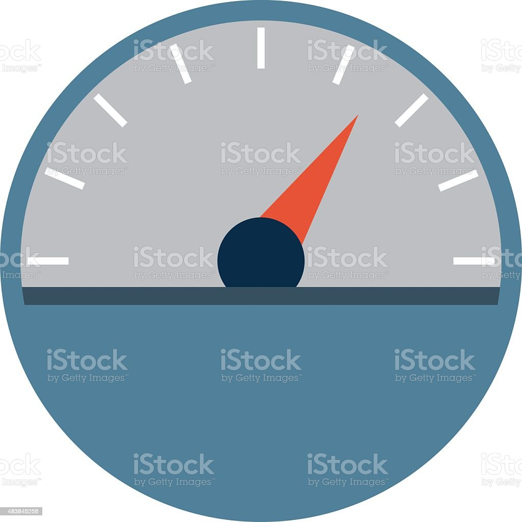 Speedometer Vector Illustration vector art illustration