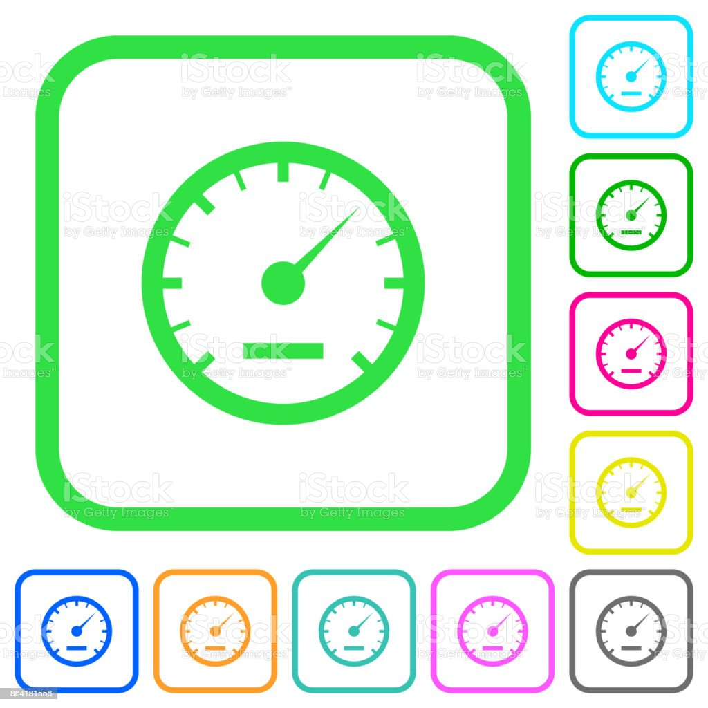 Speedometer vivid colored flat icons icons royalty-free speedometer vivid colored flat icons icons stock vector art & more images of car