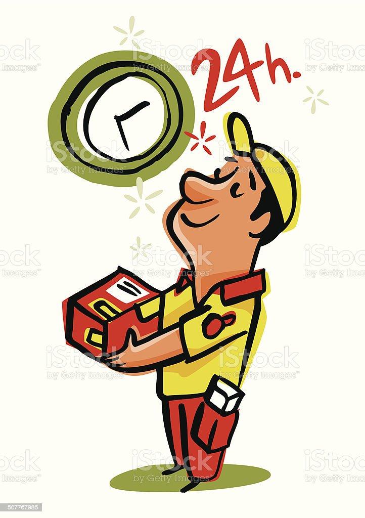 Rápida entrega en 24 horas - ilustración de arte vectorial