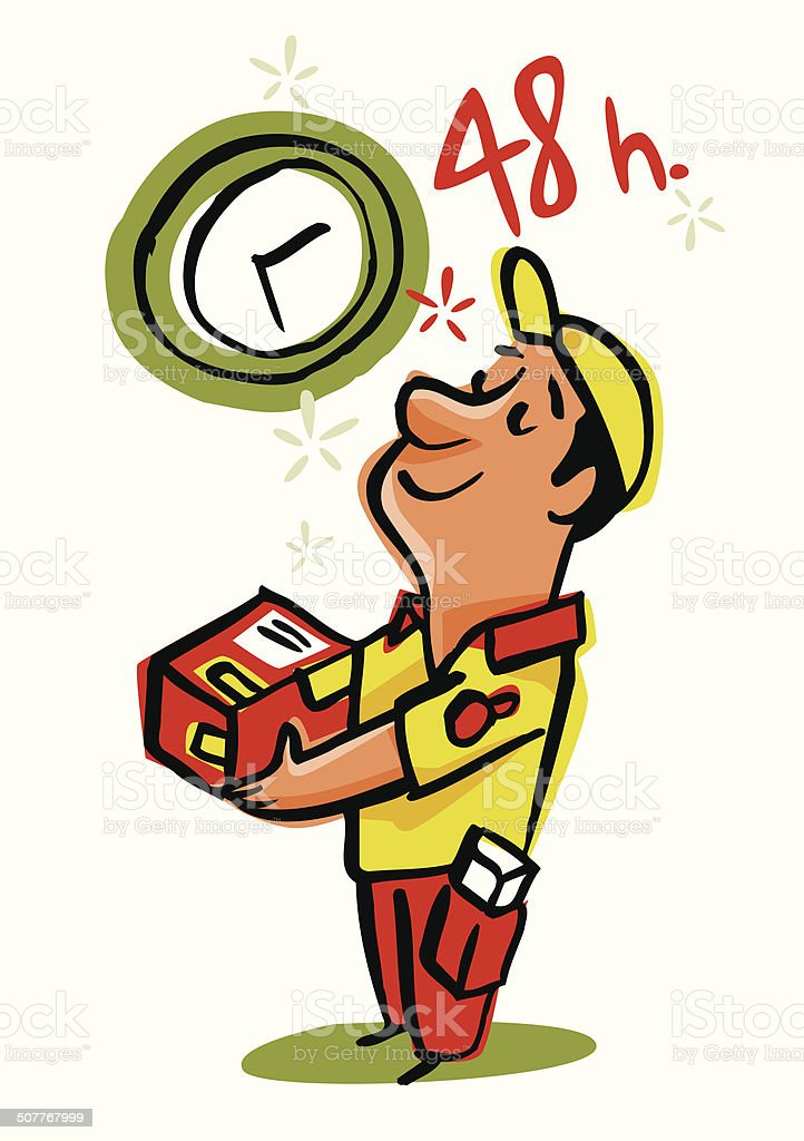 Rápida entrega en 48 horas - ilustración de arte vectorial
