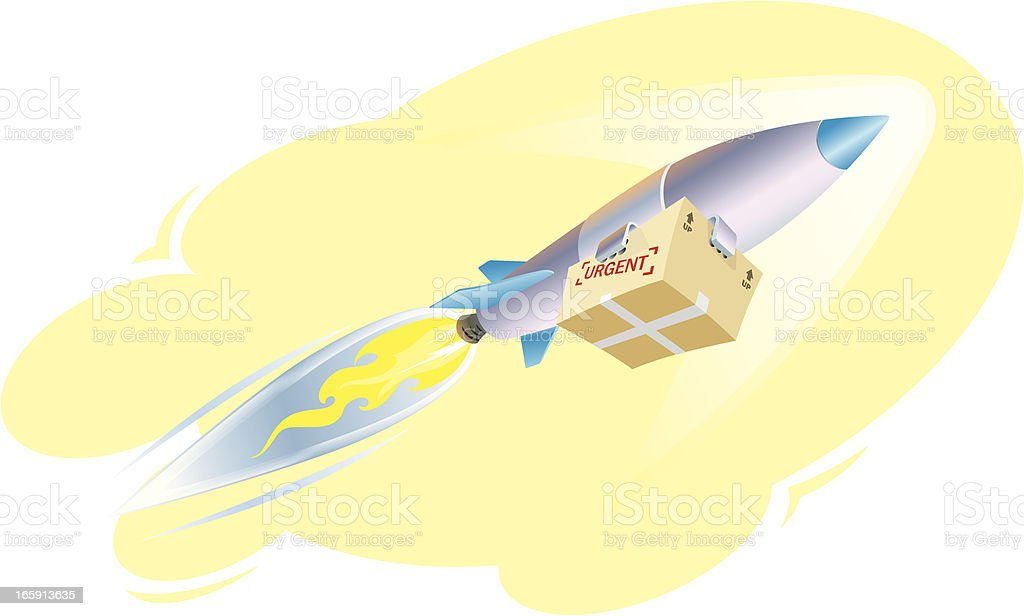 Speedy Delivery Parcel royalty-free stock vector art