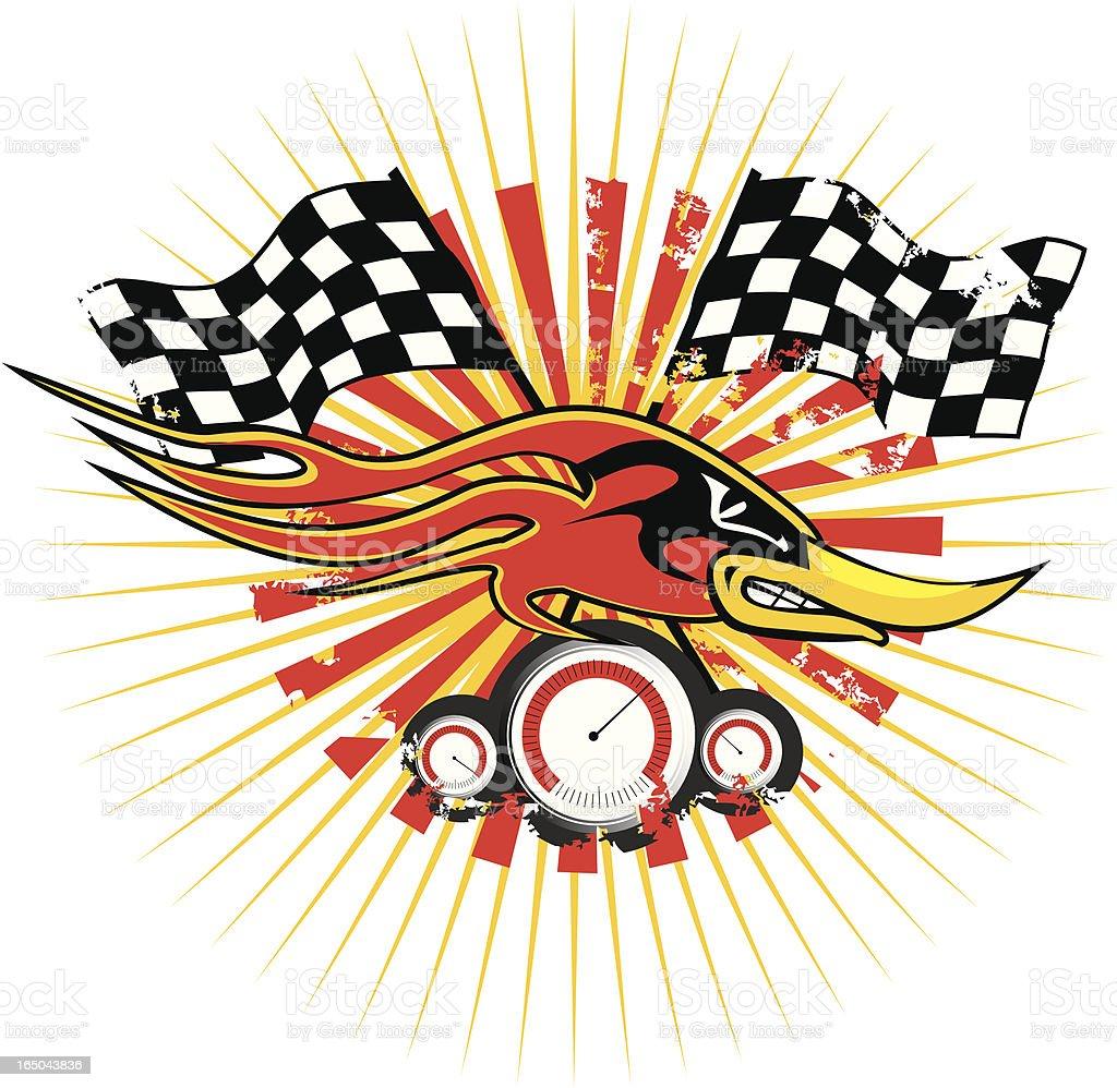 speedy racer royalty-free stock vector art