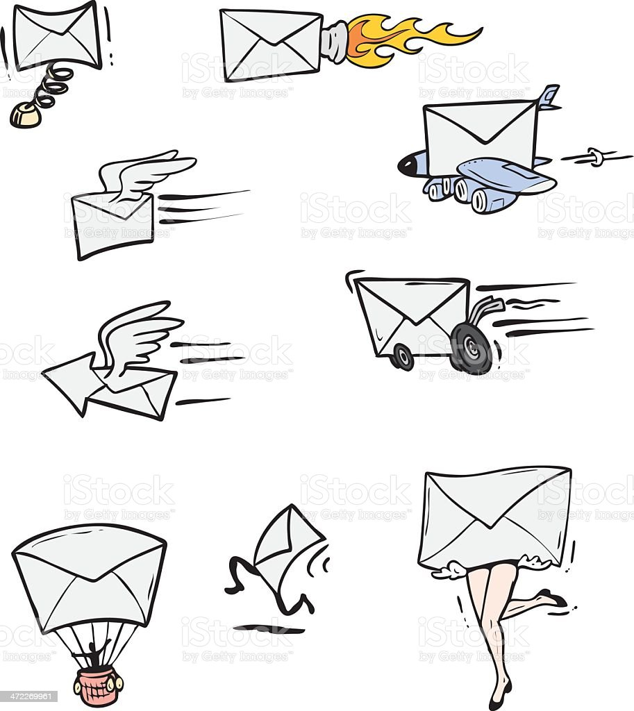 Speedy Reply - Mail/Email Symbol Pack vector art illustration