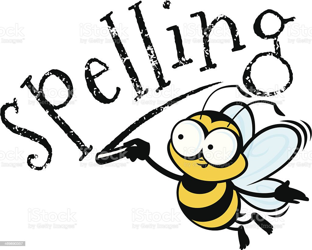 Spelling Bee vector art illustration