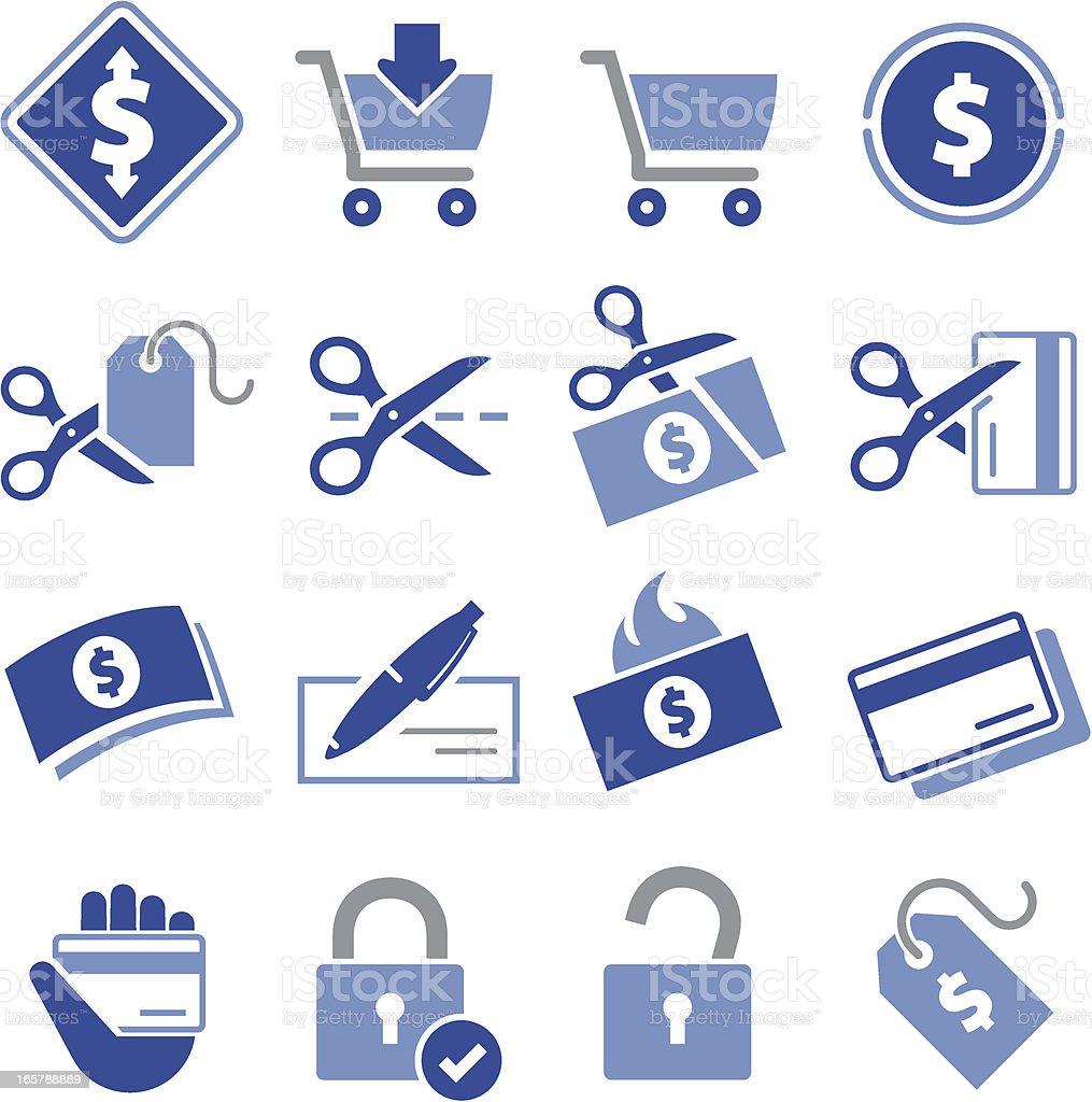 Spending Icons - Pro Series vector art illustration