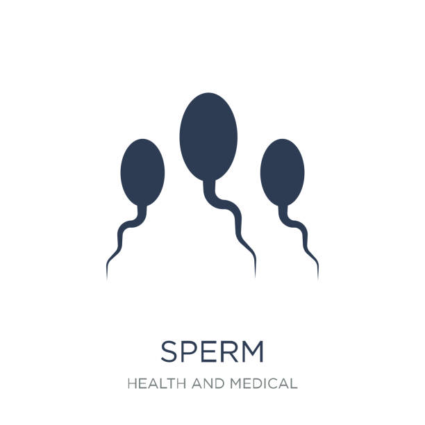 Sperm icon. Trendy flat vector Sperm icon on white background from Health and Medical collection Sperm icon. Trendy flat vector Sperm icon on white background from Health and Medical collection, vector illustration can be use for web and mobile, eps10 sperm stock illustrations