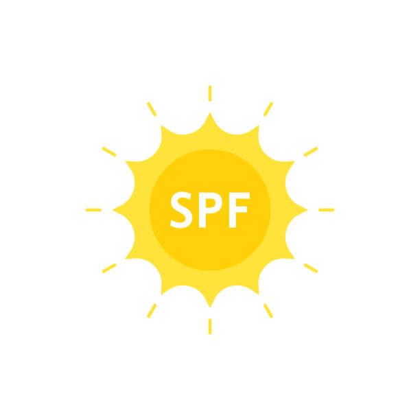 ilustrações de stock, clip art, desenhos animados e ícones de spf like sun protection factor on sun - protetor solar