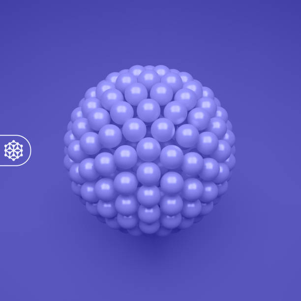 Sphere. 3d abstract spheres composition. Futuristic technology style. Vector illustration for science. Sphere. 3d abstract spheres composition. Futuristic technology style. Vector illustration for science. nanoparticle stock illustrations