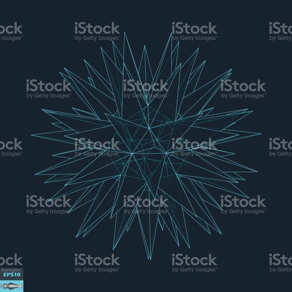 Sphere. 3d abstract vector illustration. vector art illustration