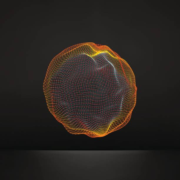 Sphere. Global Digital Connections. Globe Grid. Wireframe Sphere Illustration. Abstract 3D Grid Design. 3D Technology Style. Networks. vector art illustration