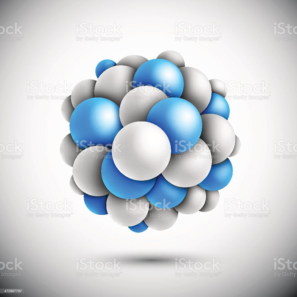 Sphere in form of the molecule royalty-free stock vector art