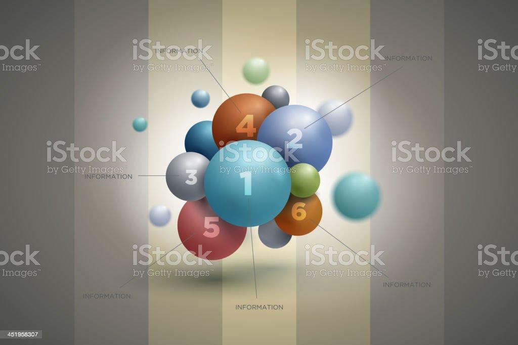 Sphere Infographic Design vector art illustration