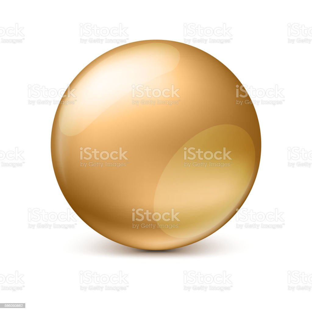Sphere isolated on white. vector art illustration