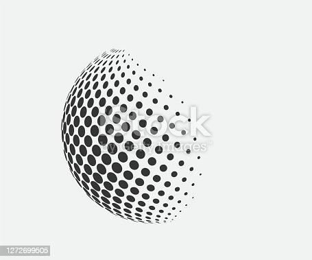 Sphere logo. Abstract ball icon. Vector illustration.