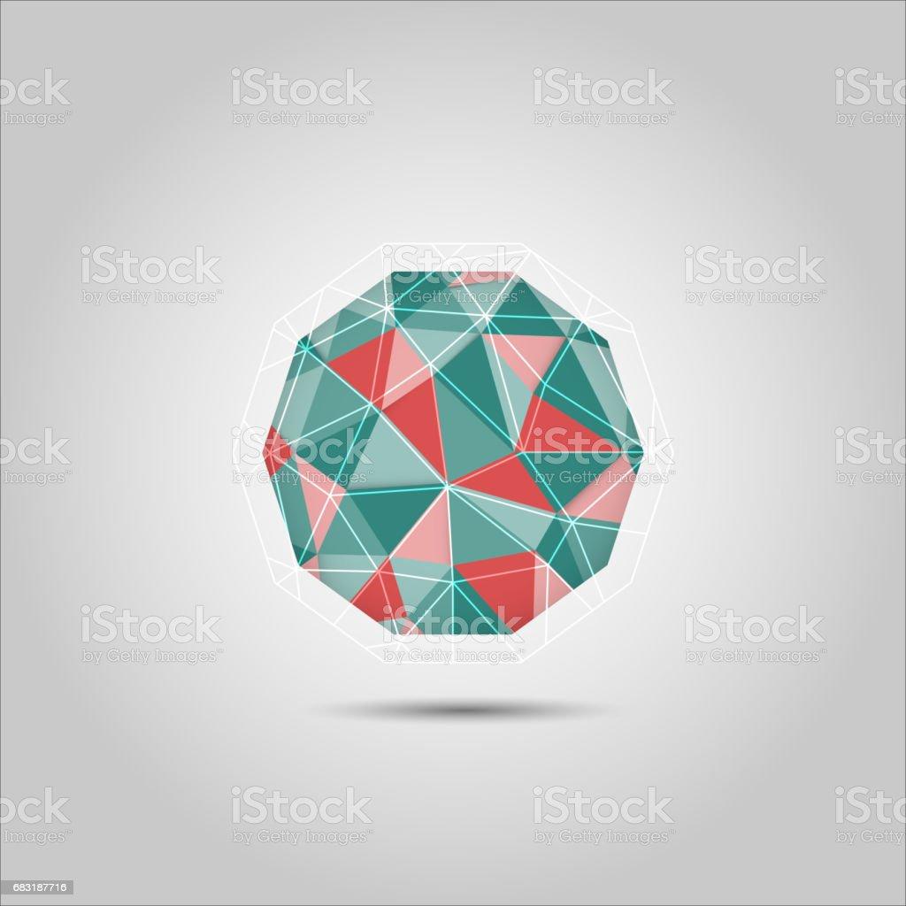 구면 다각형 모양의 벡터 아이콘 royalty-free 구면 다각형 모양의 벡터 아이콘 3차원 형태에 대한 스톡 벡터 아트 및 기타 이미지