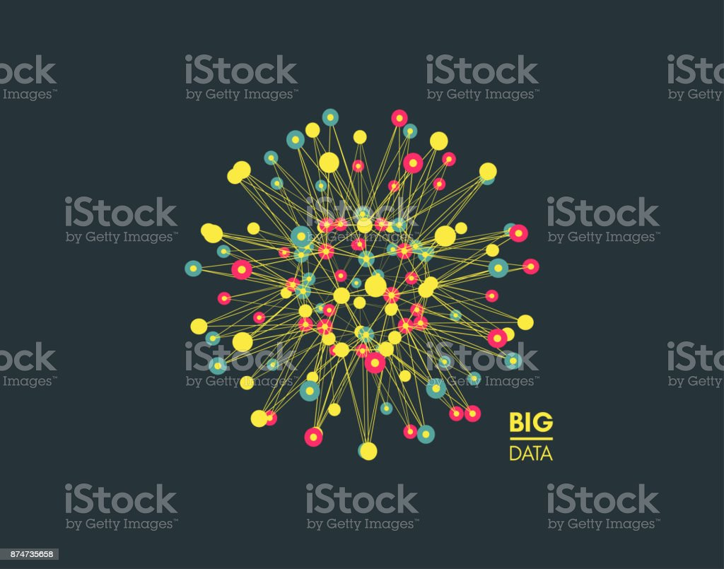 Sphere With Connected Lines And Dots Global Digital Connections 3d Plant Cell Diagram From Textbook Image Gallery Wireframe Illustration Abstract