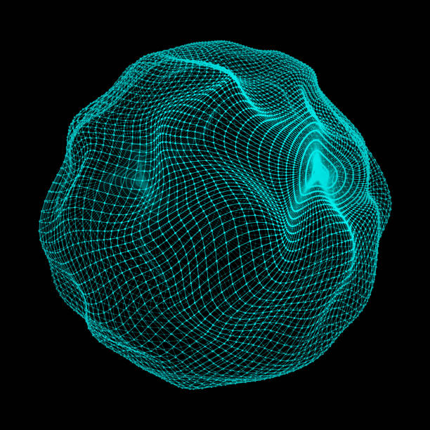 Sphere with Connected Lines and Dots. Global Digital Connections. Globe Grid. Wireframe Illustration. 3D Technology Style. Networks. Sphere with Connected Lines and Dots. Global Digital Connections. Globe Grid. Wireframe Illustration. 3D Technology Style. Networks. biological cell stock illustrations