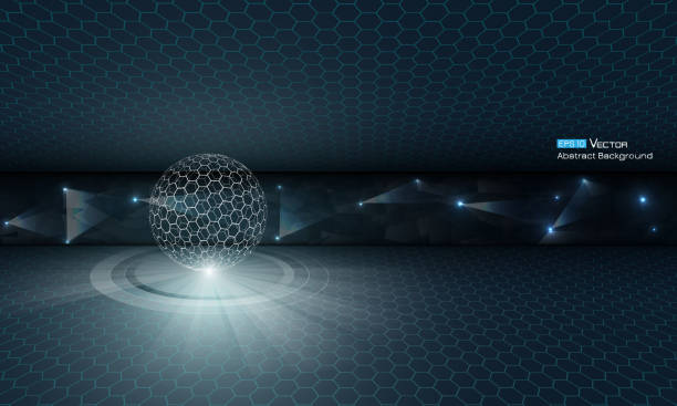 Kugel mit Licht und Sterne – Vektorgrafik
