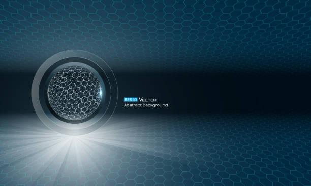 Kugel mit Leuchten – Vektorgrafik
