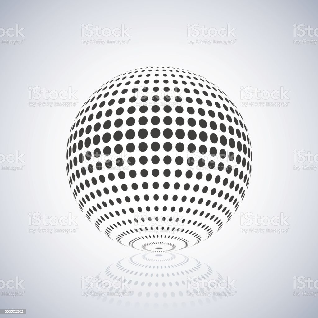 Sphere With Halftone Fill Vector Illustration Stock Vector Art ...