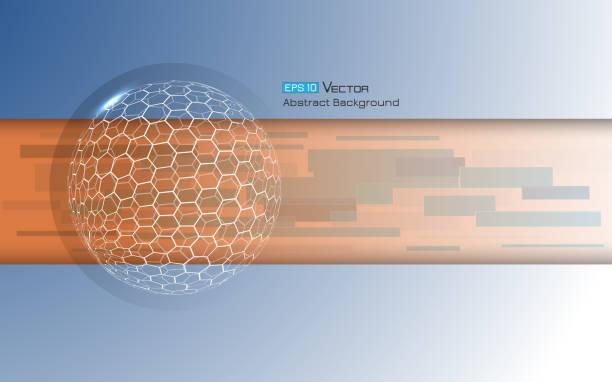 Kugel mit Sechsecken 3 – Vektorgrafik